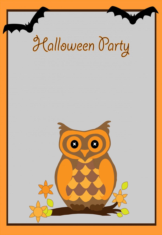 halloween invitation with owl