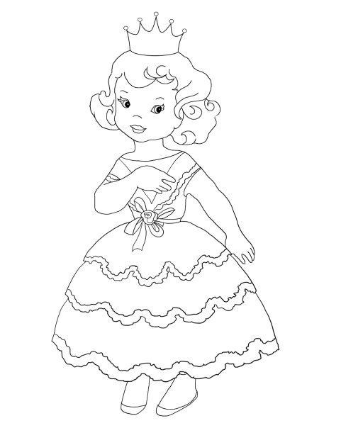 cute little princess coloring sheet