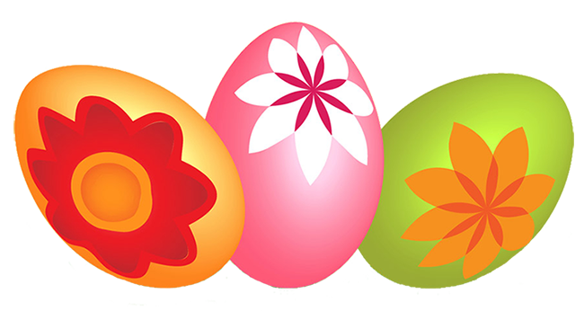 Easter eggs different colors