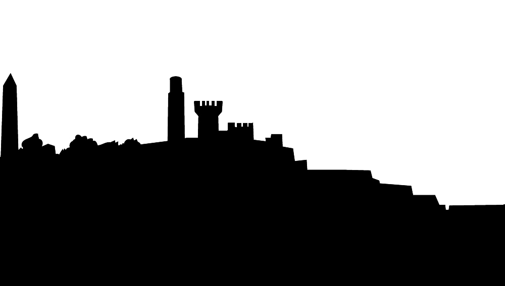 Skyline silhouette of Edinburgh