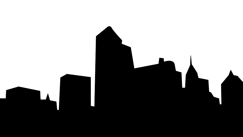 skyscrabers silhouette and towers