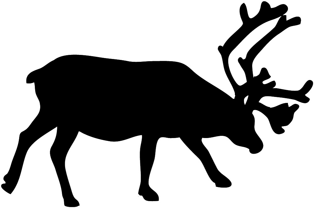 Free silhouettes of reindeer