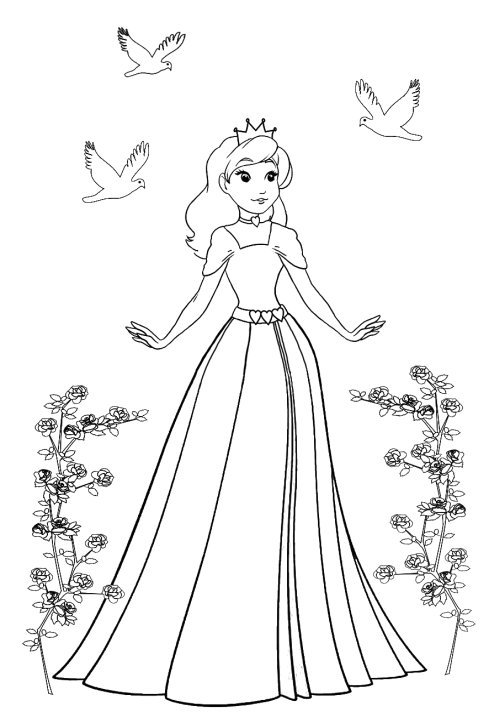 free coloring pictures of princess