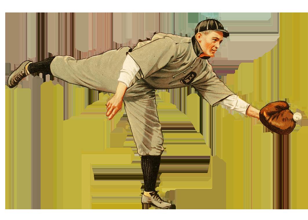 baseball player with glove and ball