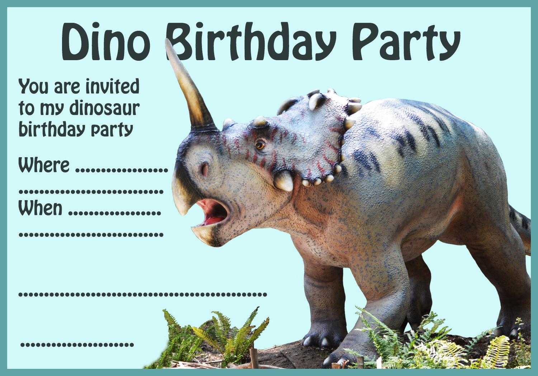 dino party invitation