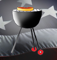 4th of july graphics barbecue flag