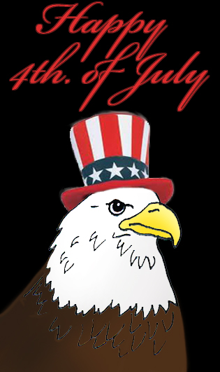 July 4th clipart eagle