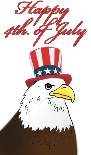 July 4th clipart eagle hat