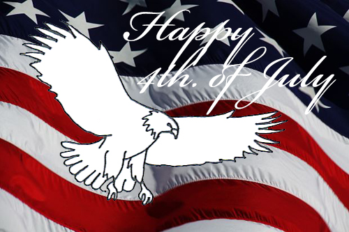 Happy independence day with eagle