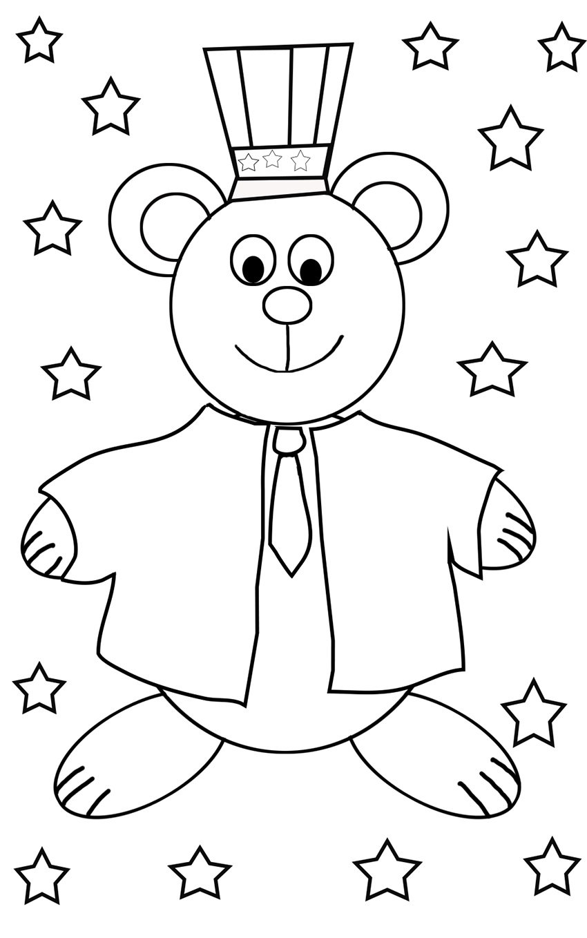coloring pages 4 of july - photo#15