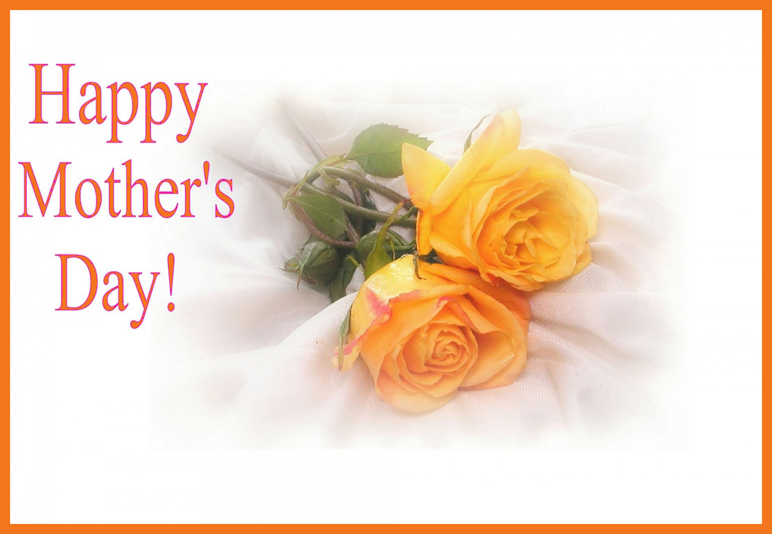 Mother's Day card with yellow roses