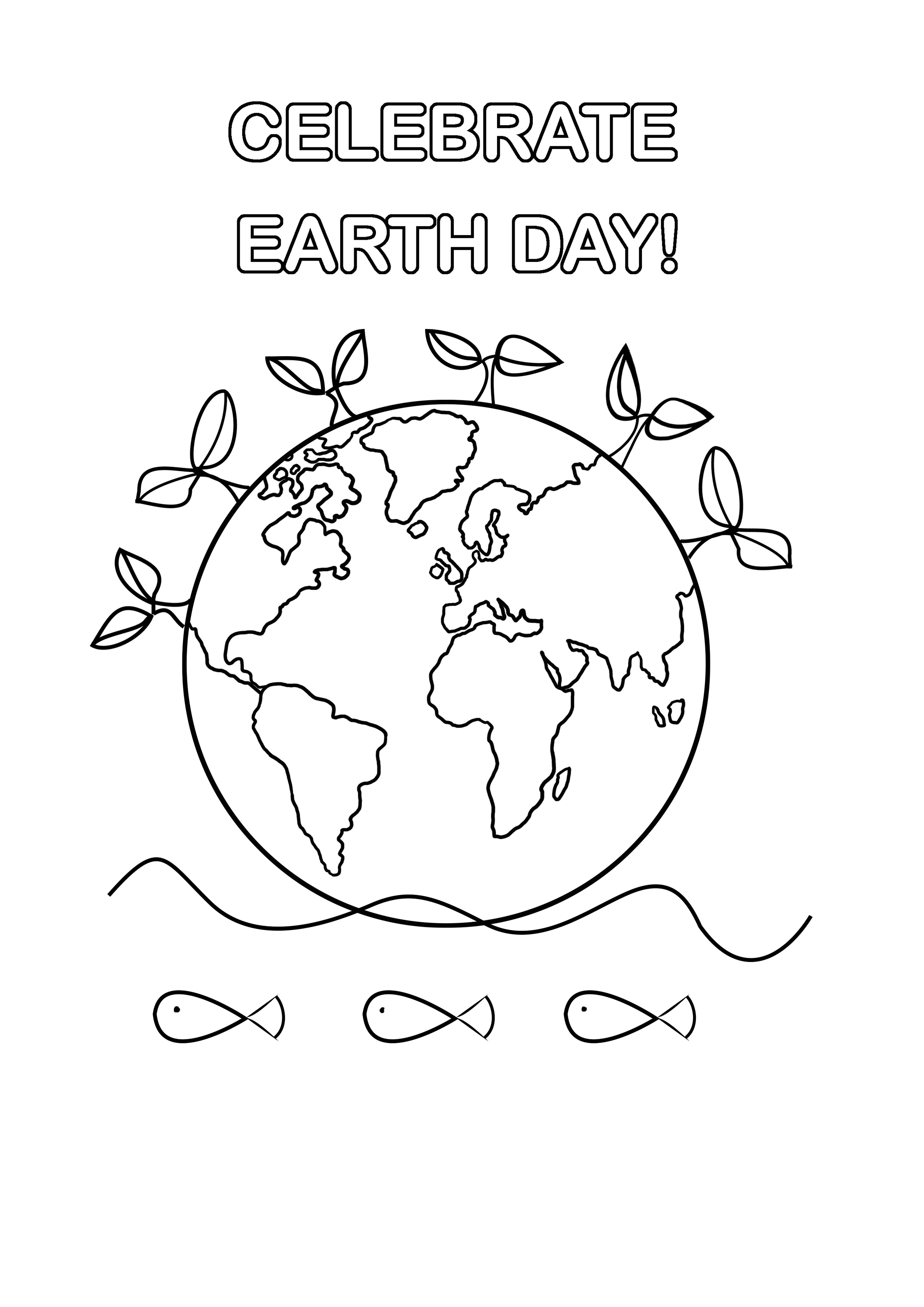 celebrate earth day coloring sheet