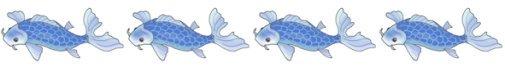 koi fish drawings border blue