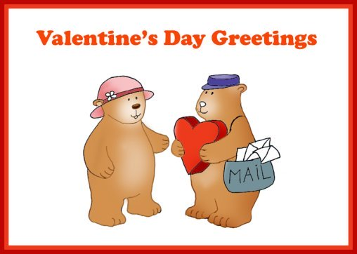 Valentine cards for kids with Teddy bear