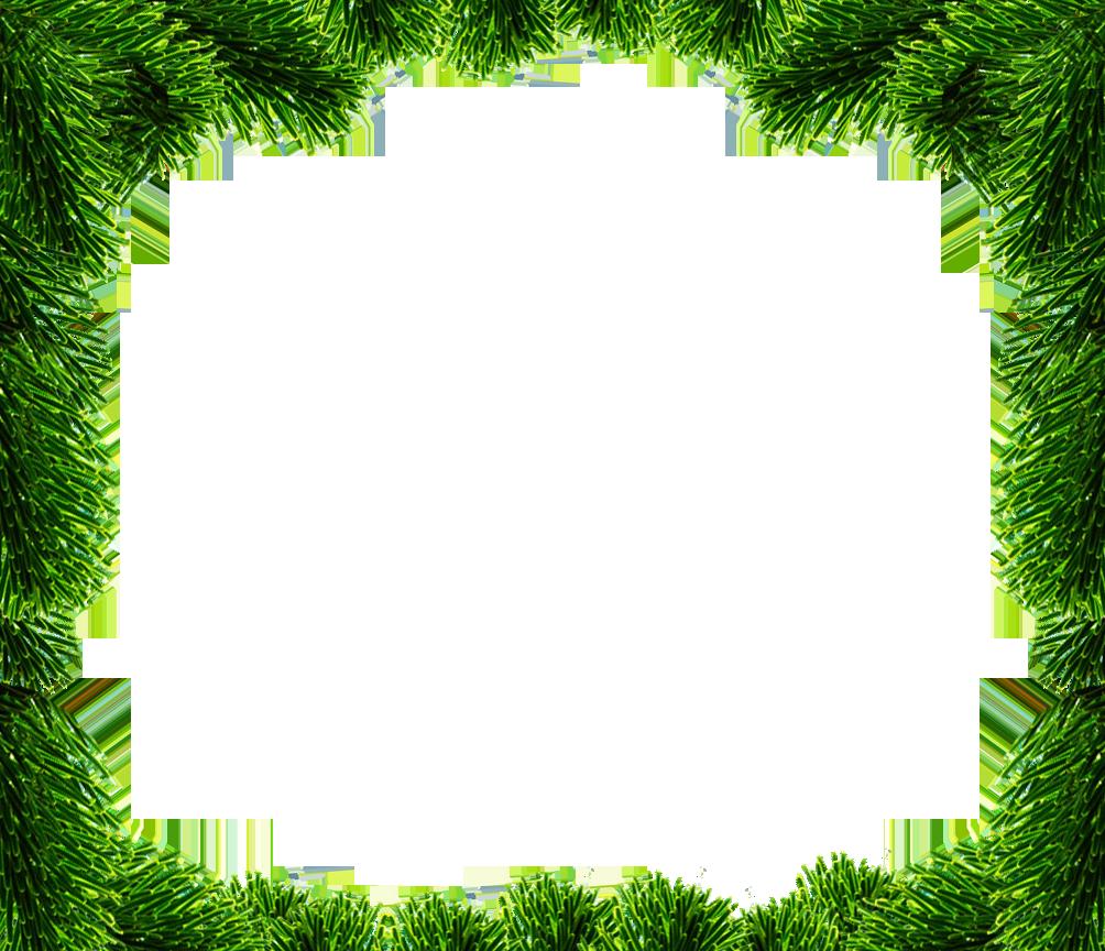 Christmas frame spruce