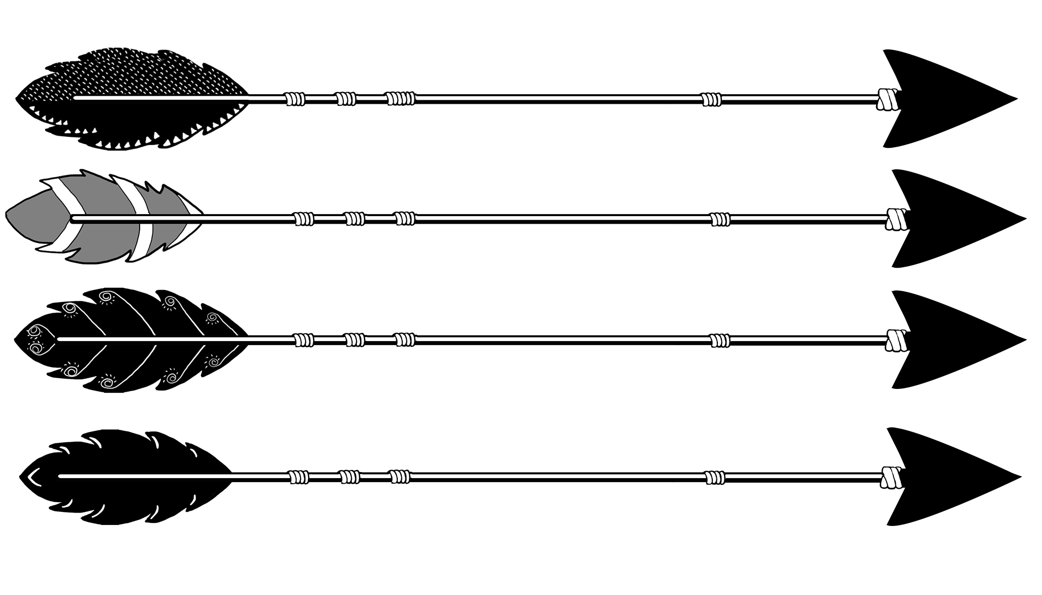 tribal black arrows different types