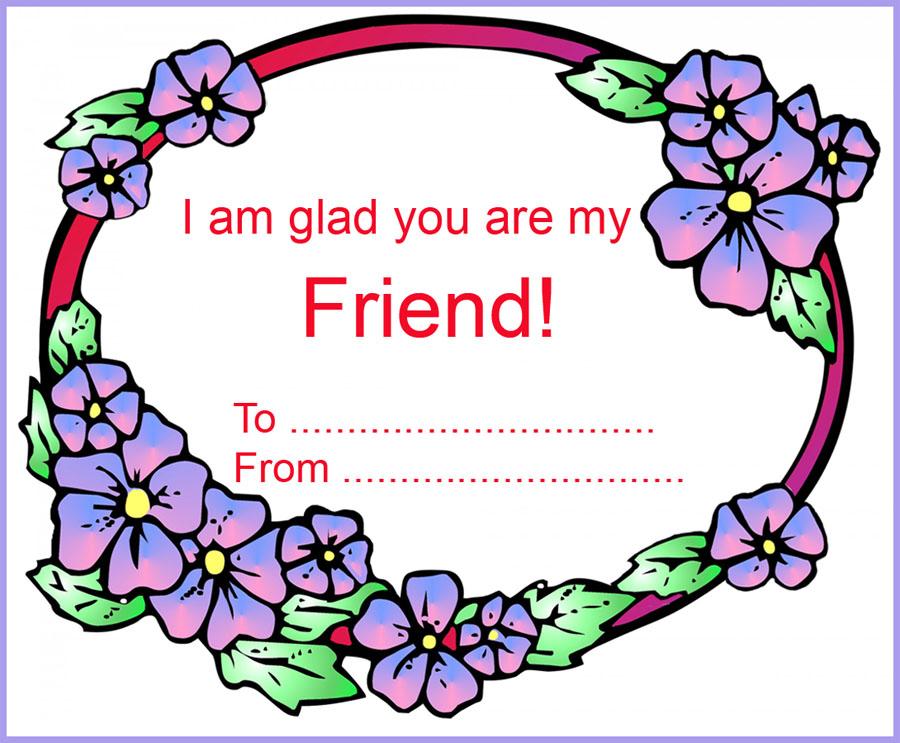 Valentine Day flower card for kids