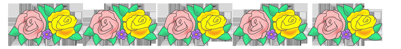 rose flower border