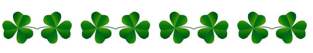 St. Patrick's clover border