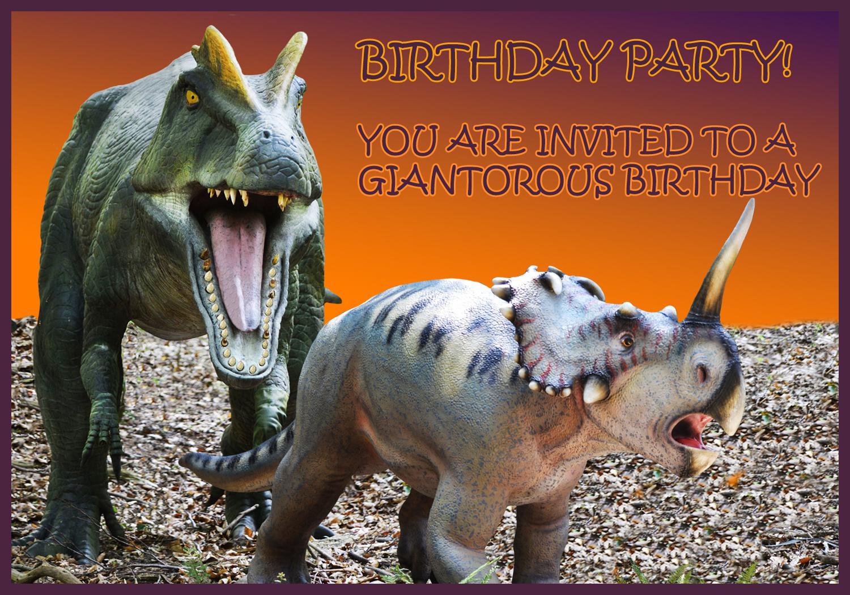 scary dino party invitation