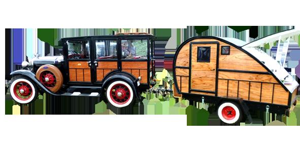 classic car show vintage caravan