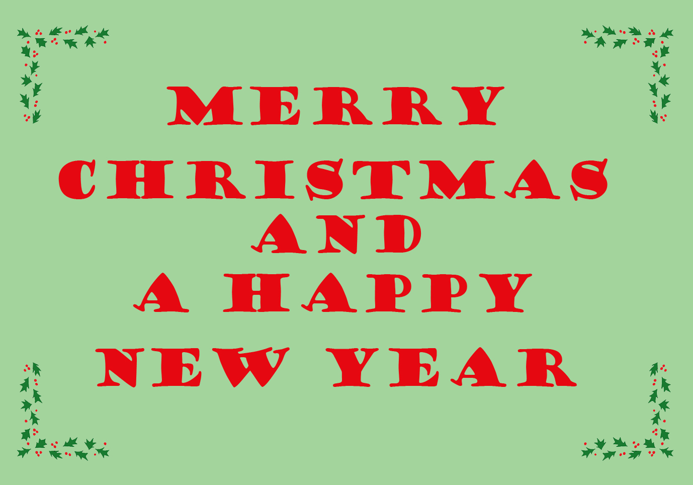 Christmas greeting card with holy