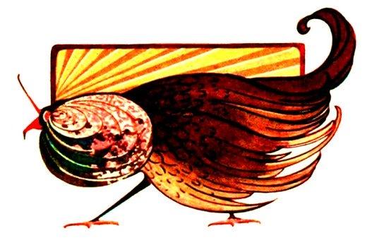 Art Nouveau picture of bird