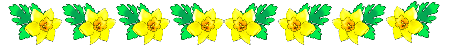 Daffodil border for Easter