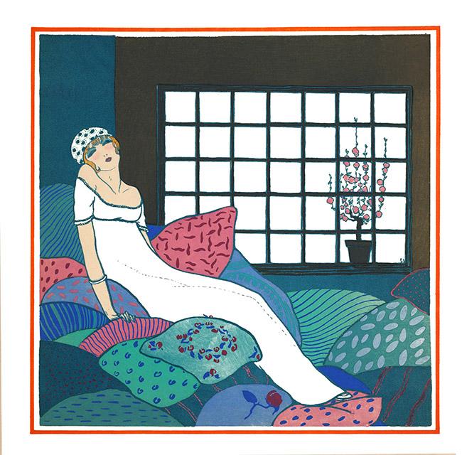 art-nouveau-woman-pillows