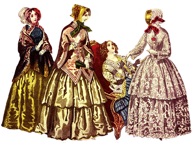 Ladies dress hats clip art