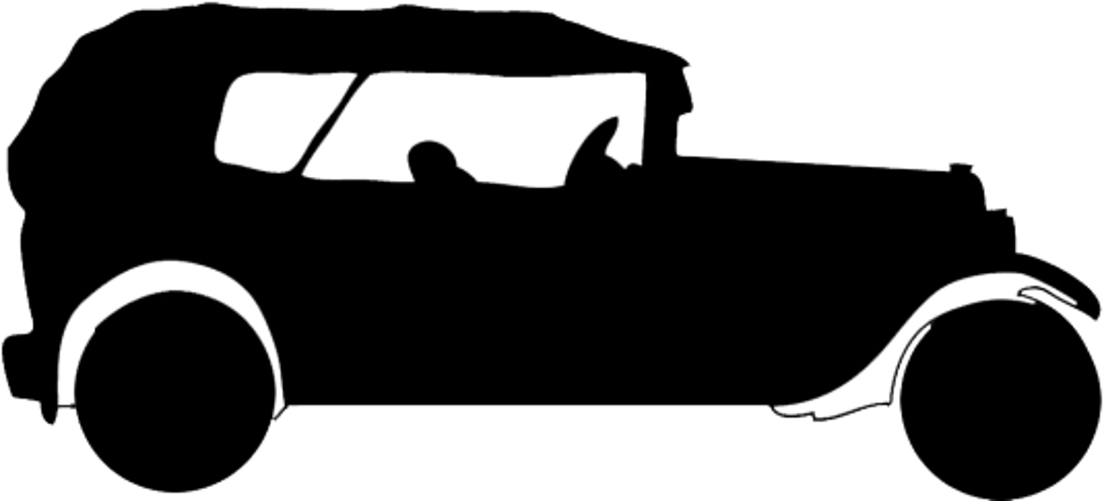 Silhouette graphics of Austin 20 Tourer 1920