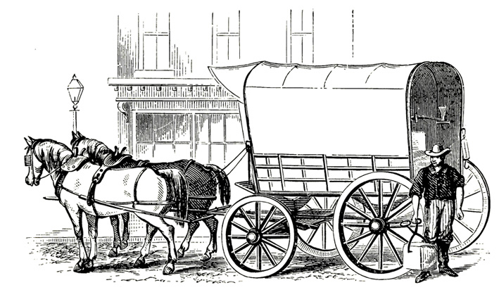 Victorian ice carriage