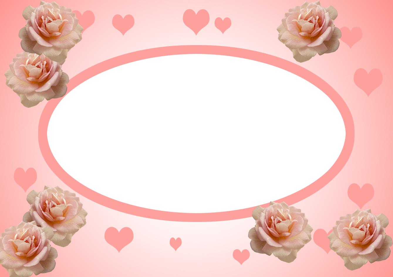 Valentines Day Frame pink