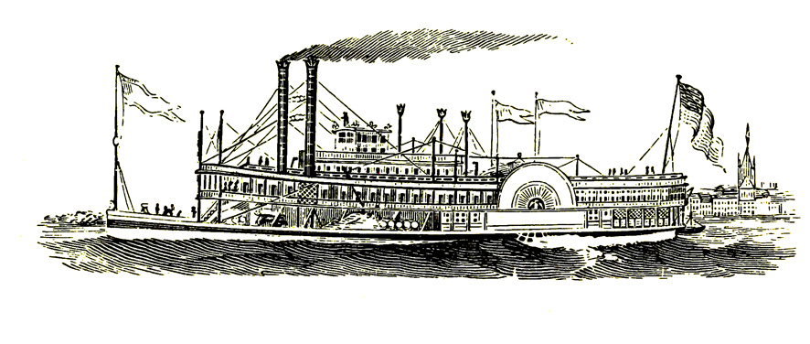paddle steamer Victorian age
