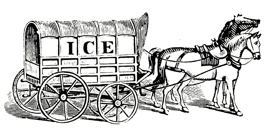 Ice horse carriage