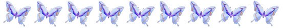 blue butterfly border clipart