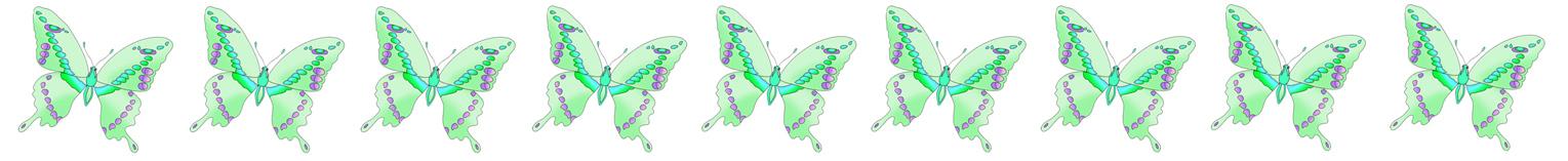 border with green butterflies