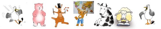 funny clip art border with cartoon animals