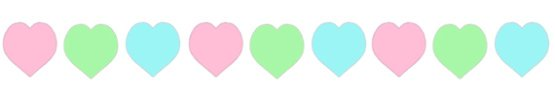valentine clipart band coloured hearts
