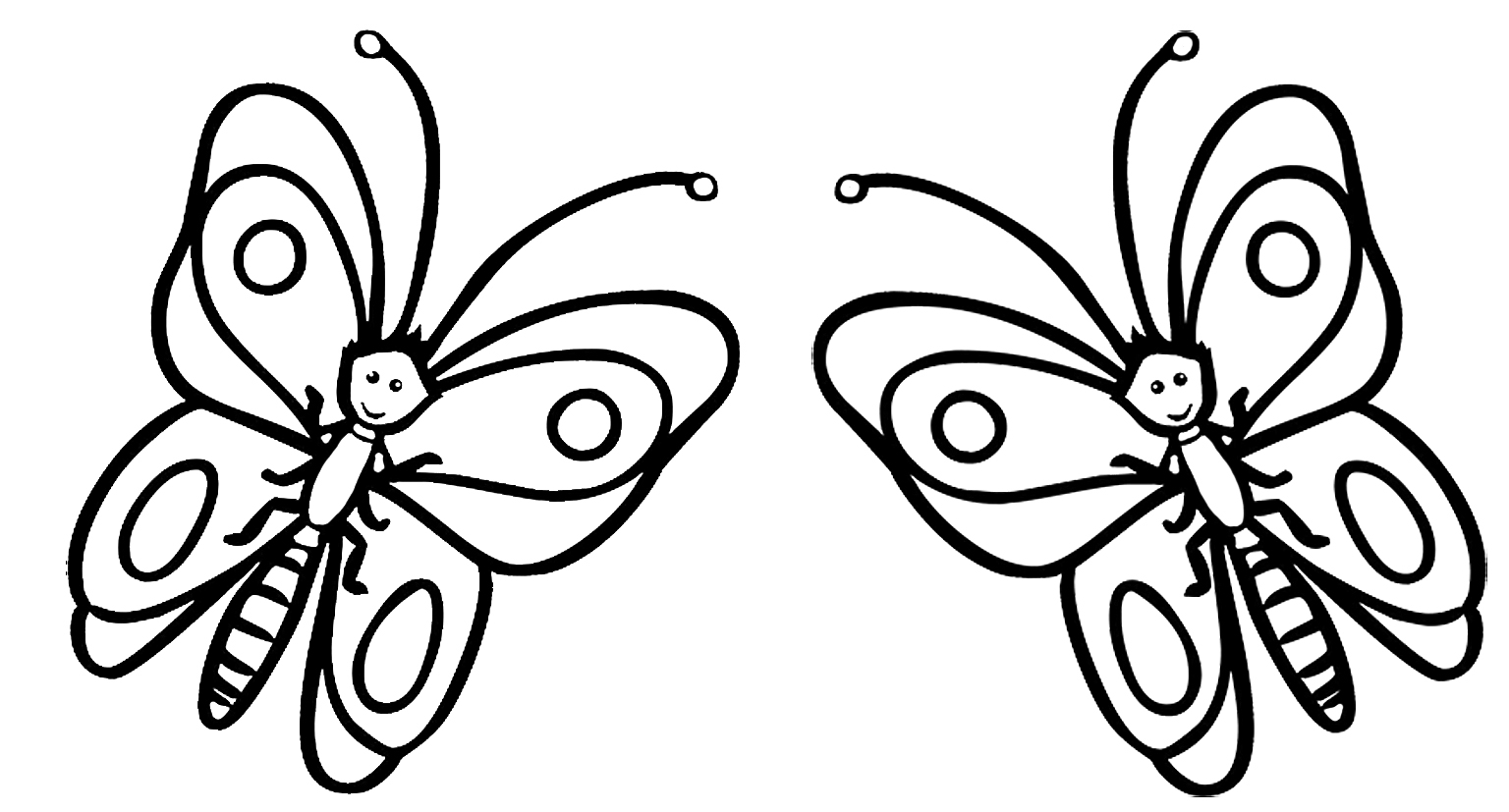 butterfly cartoons for coloring
