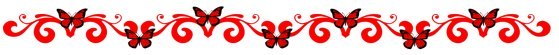 red butterfly border