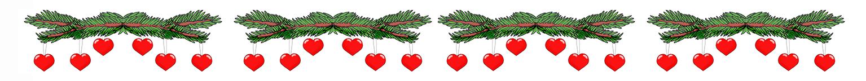 Christmas clip art border spruce hearts