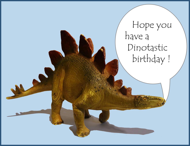 funny old dinosaur birthday greeting
