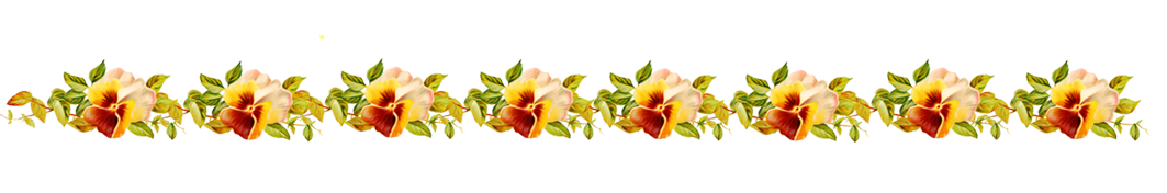line border with pansies
