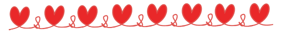 red heart border of rope