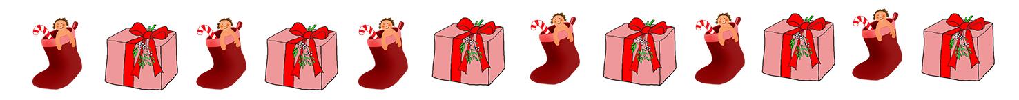 free Christmas clip art border presents
