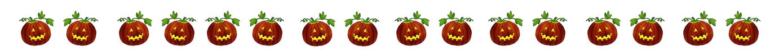 Halloween border with pumpkins