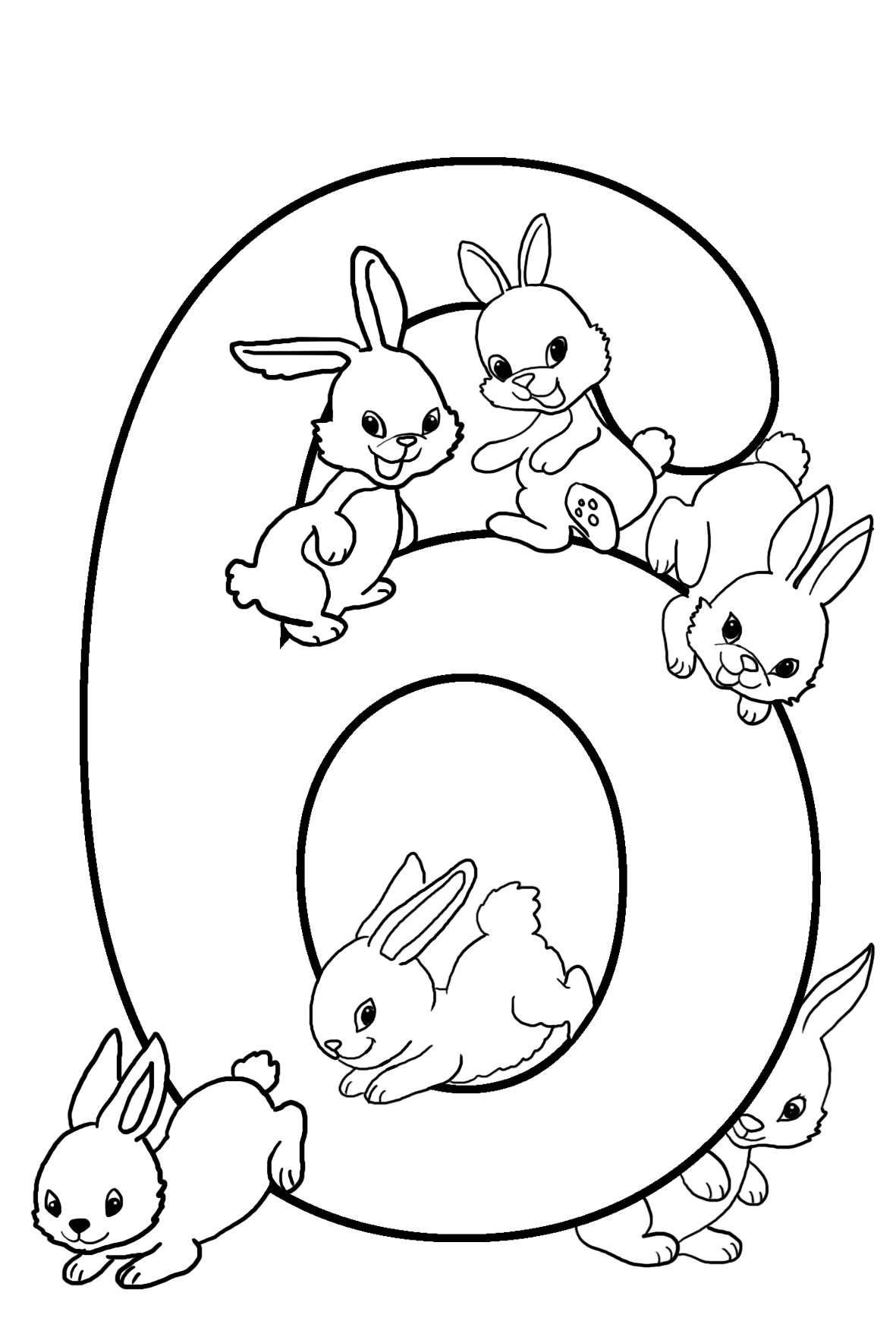 6th birthday coloring sheet