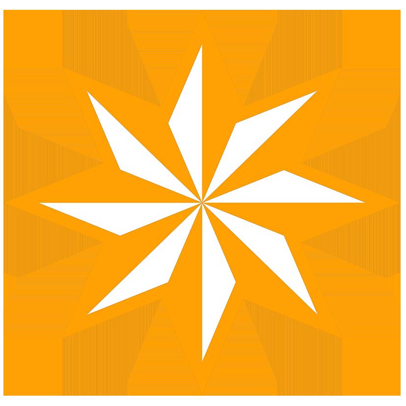 8-pointed star orange