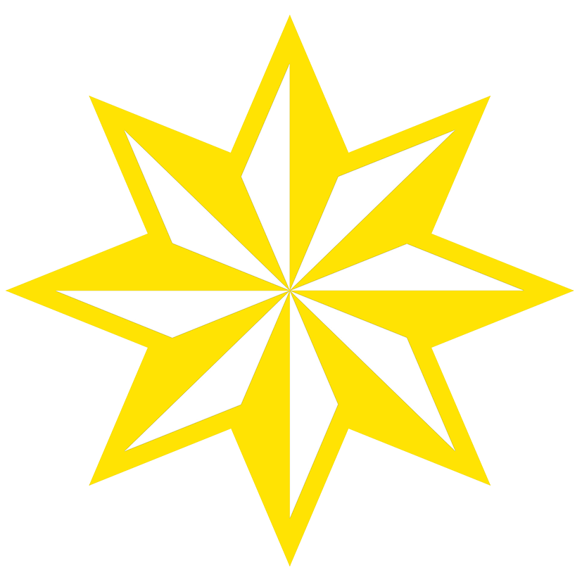 yellow faceted star clipart